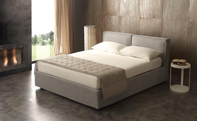 Lit cube avec l ment de rangement isol du sol - Cadre de lit avec rangement ...