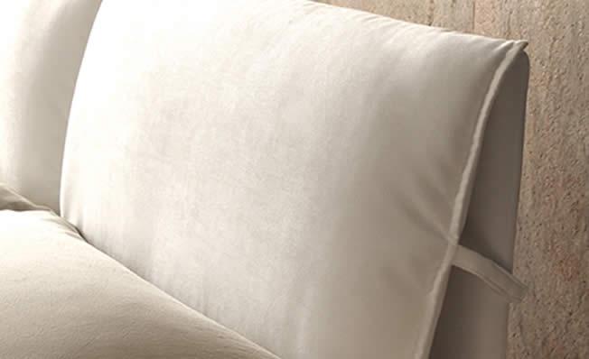 Letto contenitore freestyle in tessuto con vano cassone - Cuscini letto per cervicale ...