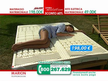 Offerta: materasso in lattice MARION e rete a doghe in legno con alzata testa elettrica