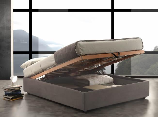 easy stoffbett mit schubladen und lattenrost. Black Bedroom Furniture Sets. Home Design Ideas