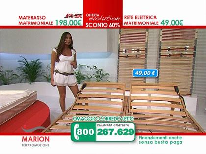 Offerta: materasso in lattice MARION e rete a doghe in legno con ...