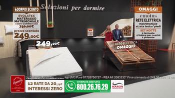 Offerta Marion Doppio Sconto materasso e rete a 249 euro