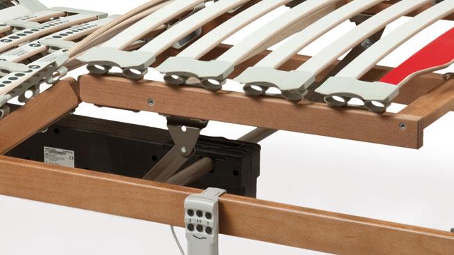 Rete letto motorizzata rete letto elettrica a doghe in legno di faggio - Rete letto legno ...