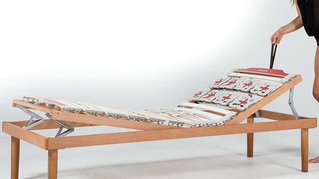 Rete letto a doghe regolabile con alzata testa piedi - Rete letto legno ...