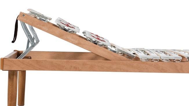 Rete letto a doghe regolabile con alzata testa piedi - Testa del letto ...